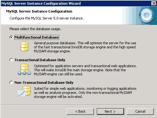 mysql database server 3.23.58